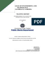 Training Report 1