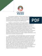 Obama Open Letter
