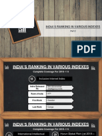14.India's Ranking in Various Indexes - Part2