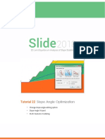 Slope Angle Optimization