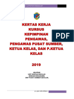 Kertas Kerja Kursus Kepimpinan Pengawas 2019