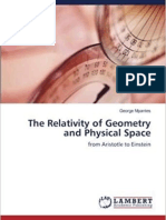 THE RELATIVITY OF GEOMETRY AND PHYSICAL SPACE/book Lambert Academic Publishing