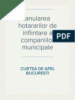 anulare hotarari de infiintare companii municipale Bucuresti