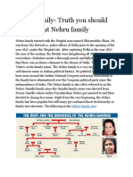 Nehru Family- Truth You Should Know About Nehru Family