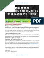 SOAL UMPN 2017 Polinema Rekayasa