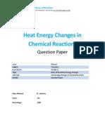 21-Heat Energy Changes in Chemical Reactions-qp- Gcse-edexcel-chemistry