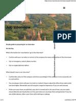 Job Interview Preparation - MyWorld