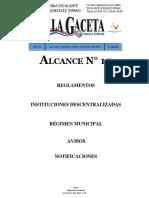 La Gaceta Alcance 10 20180119