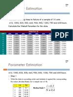 Lecture 6 - Parameter Estimation