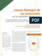 Importancia Fisiologica de Los Animoacidos