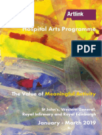 The Value of Meaningful Activity - Hospital Arts Programme January to March 2019
