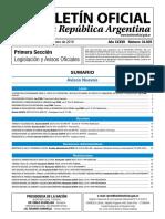 Boletín Oficial de la República Argentina N° 34029
