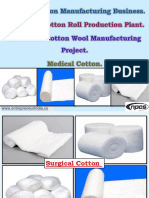Surgical Cotton Manufacturing Business. Absorbent Cotton Roll Production Plant. Absorbent Cotton Wool Manufacturing Project. Medical Cotton.-48297