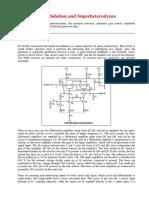 Amplitude Modulation and Superheterodynes
