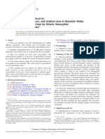 D3561-11 Standard Test Method for Lithium, Potassium, And Sodium Ions in Brackish Water, Seawater, And Brines by Atomic Absorption Spectrophotometry