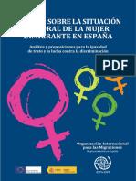 Estudio Sobre la Situación Laboral de la Mujer Inmigrante. OIM 2015