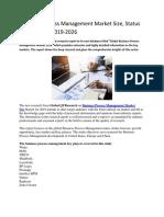 Business Process Management Market Size