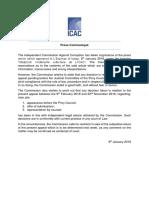 [Affaire Medpoint] Communiqué de l'ICAC sur l'appel du DPP devant le Privy Council