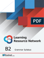 B2 Grammar Syllabus and Exercises for the LRN