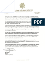 Sheriff Neil Warren's letter