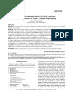 Correlation Between Serum Uric Acid Level and Microalbuminuria in Type-2 Diabetic Nephropathy