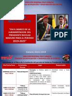 Plan de Movilización PSUV Juramentación de Nicolás Maduro. 2019- 2025.