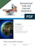 International Trade and Regional Integration