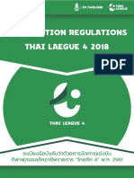 Competition Regulations Thai League 4 -2018.