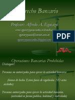 Operaciones prohibidas a las entidades financieras - Derecho bancario argentino - ppt de apoyo dictado de clases