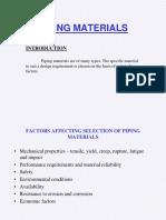 Piping Materials selection training