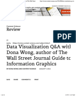 Data Visualization Q&A With Dona Wong, Author of the Wall Street Journal Guide to Information Graphics – Content Science Review
