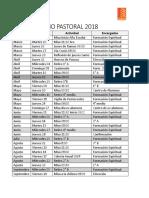 Calendario Pastoral 2018