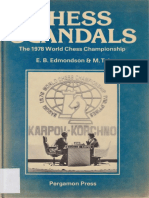 Mikhail Tal, E. B. Edmondson-Chess Scandals the 1978 World Chess Championship-Pergamon (1981)
