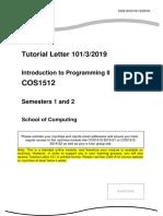 COS1512 Tut Letter 101