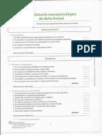 Cuestionario Neuropsicologico de Dano Frontal Del Banfe