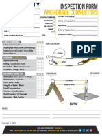 Anchorage Connector Inspection Form Rev C