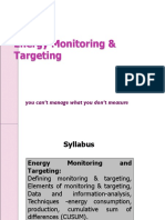 8.Energy Monitoring & Targeting