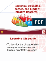 1 Characteristics Strengths Weaknesses and Kinds of Quantitative Research
