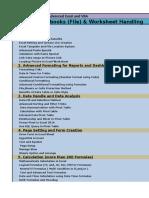 Syllabus of Advanced Excel, Dash Board and Vba2