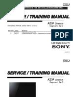 Manual de servicio SONY KDL-55HX857