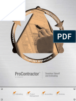 Procontractor-estimating Brochure
