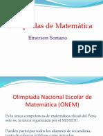 Olimpiadas de Matemática en las que Perú Participa