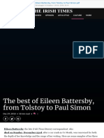 The Best of Eileen Battersby, From Tolstoy to Paul Simon