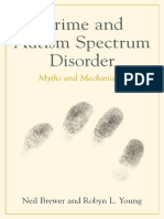 Crime and Autism Spectrum Disorder - Neil Brewer