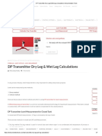 DP Transmitter Dry Leg & Wet Leg Calculations Instrumentation Tools