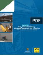 Manual Uso Conservacion Mantenimiento Colegios Sed