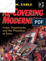 Re-Covering Modernism. Pulps, Paperbacks, And the Prejudice of Form. David M. Earle (Libro Digital)