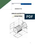 Dibujo ilustrativo isométrico