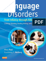 Language Disorders From Infancy Through Adolescence Listening, Speaking, Reading, Writing, And Communicating, 4e