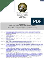 Fauquier BOS Agenda Jan. 10, 2019